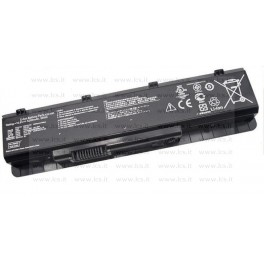 Batteria Asus N45SF, N45SL, N55SF, N55SL, N75SF, N75SL Notebook series, A32-N55, 5200mAh 6 Celle, Nera, Compatibile